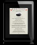 Das letzte Dinner auf der Titanic