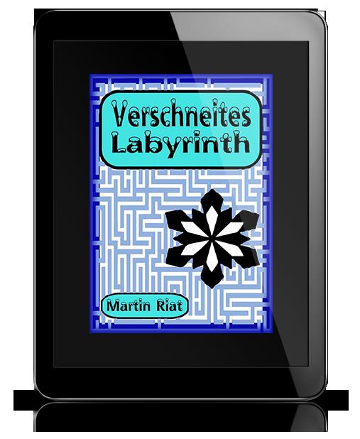 Verschneites Labyrint